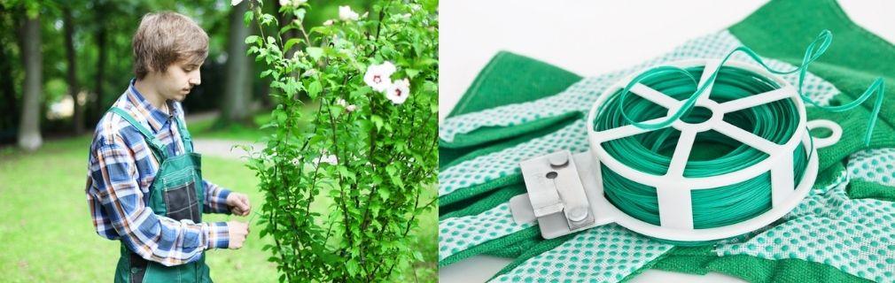 Gartdraht grün Spule