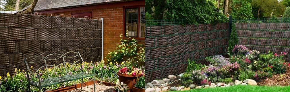 Zaun Rattangeflecht Garten