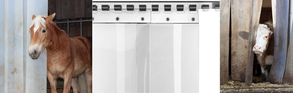 PVC-Lamellenvorhang Stalleinsatz